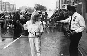 Merle Hoffman would wield a wire hanger at protests, to help get her point across. (Courtesy Merle Hoffman)