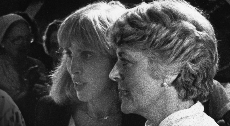 Merle Hoffman and Geraldine Ferraro, women at the forefront of history