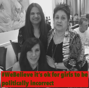 Mandy Singhara, Merle Hoffman, Phyllis Chesler during a meeting of the Choices Global Institute